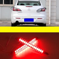 Right Left LED Rear Reflector Lamps Bump Light Car Styling For M3 Mazda3 2011 2012 2013
