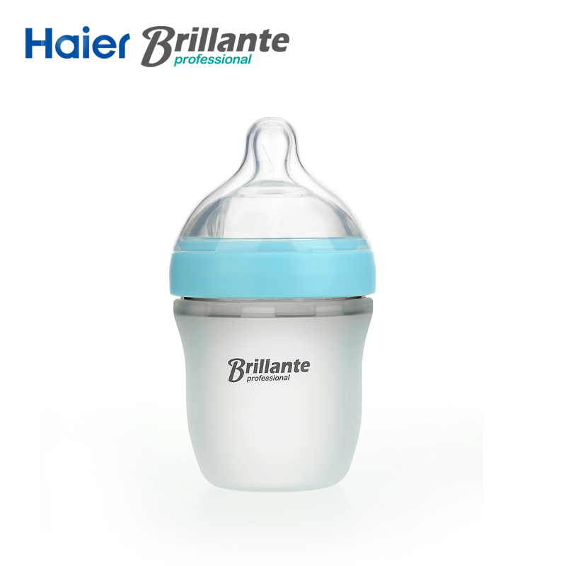 Haier Brillante Silicone Garrafa de leite do bebê Garrafa De Silicone De Alimentação Do Bebê Garrafa de Leite 150 mL/240 mL Mamadeira Bebê Biberon Mam