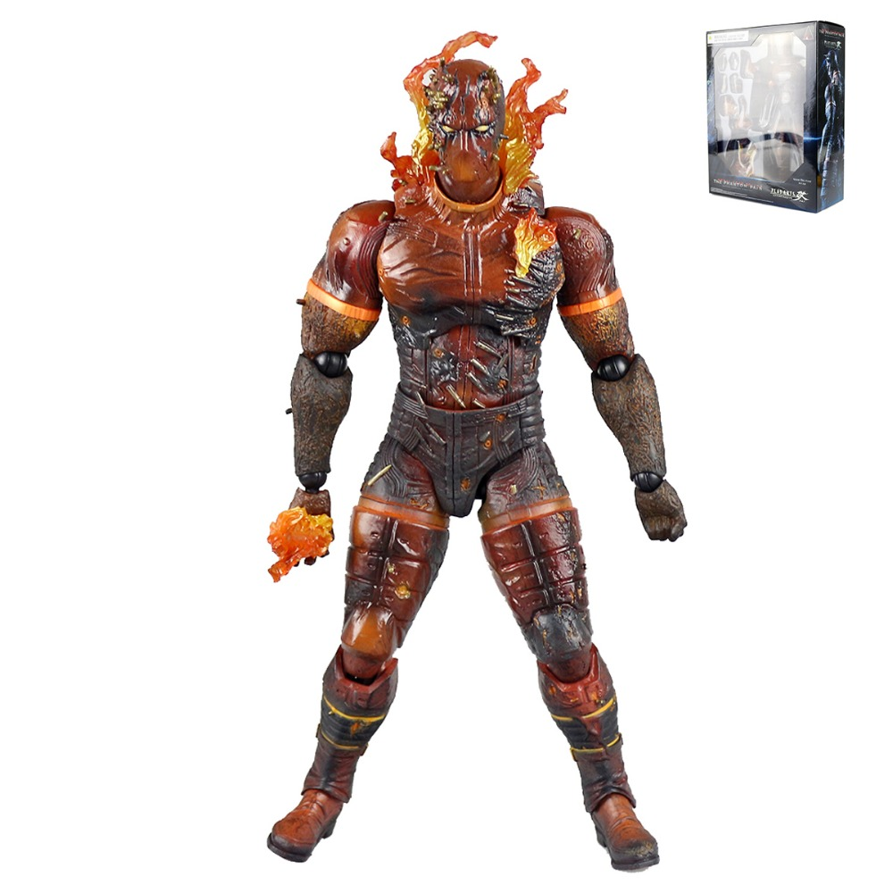 Play Arts Kai Metal Gear Solid V The Phantom Pain Burning Man Action Figure Free Shipping metal gear solid v the phantom pain play arts flaming man action figure super hero