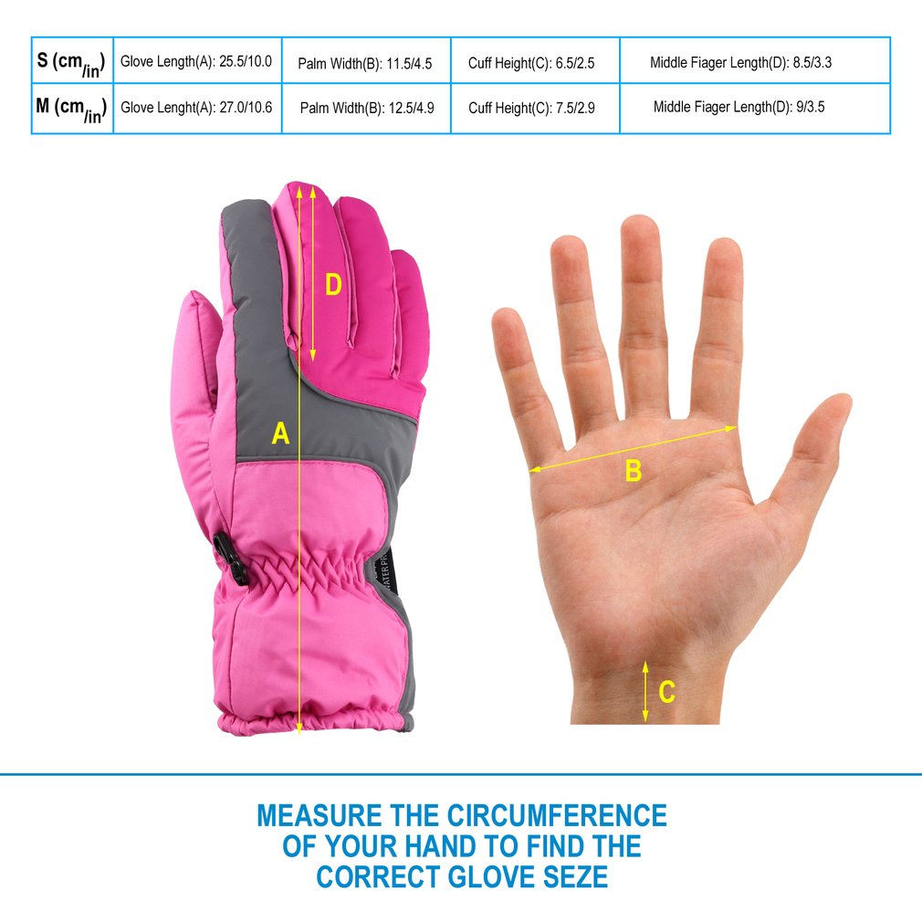 OUTAD Winter Outdoor Soft Liner Breathable Windproof & Waterproof Snow Ski Gloves Warm Mountain Climbing Gloves For Women