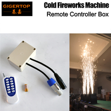 Gigertop Wedding Fountain Cold Spark Flame Stage Effect DMX Sparkler Remote Controller Box Freeshipping
