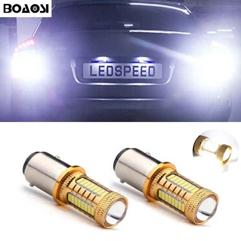 2x LED Rear Reversing Light Bulb 1156 4014 CREE Chip For Skoda Fabia - Lampu kereta - Foto 1