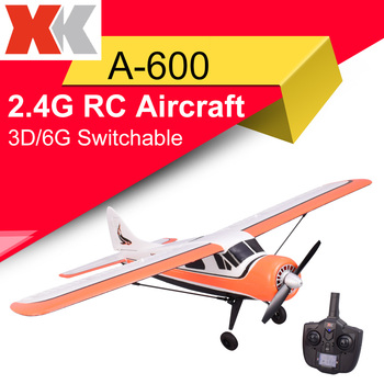 XK DHC-2 A600 2.4G 4CH Brushless 3D6G System RC Airplane 6 Axis Glider Remote Compatible With FUTABA S-FHSS Aircraft RC Glider