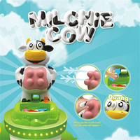 Electric water spray cow pranks the children toy Make fun of the whole toy Board game toys