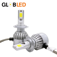 Globled 1 Set 2 36W 72W Car Auto LED Bulbs Headlight 7600LM 12V 24V H7 Kit