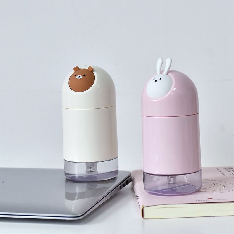Cartoon Humidifier 280Ml Air Humidifier Kids Room Decoration Home Office Decor Humidifier Usb Home Decoration Accessories Whit in Humidifiers from Home Appliances