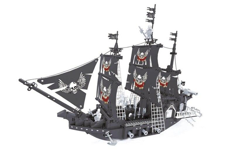 Ausini building block set compatible with lego pirates series 162 3D Construction Brick Educational Hobbies Toys for Kids