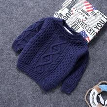 Детская одежда; теплые хлопковые пуловеры для маленьких мальчиков; свитера с плюшевой подкладкой для девочек; зимняя Осенняя вязаная Свободная куртка; От 1 до 12 лет; детские топы