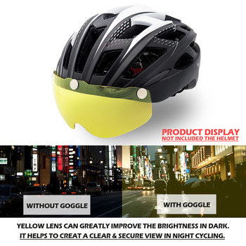 Bicycle Helmet, For Night Cycling, Lens Magnetic, Helmets Shield  MTB 11
