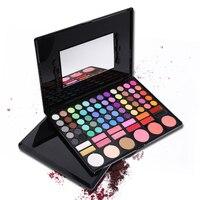 78 Colors Shimmer Matte Eyeshadow Makeup Palette Face Bronzer Blusher Professional Eye Shadow Smoky Pigment Powder