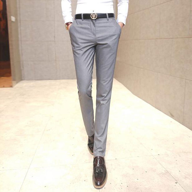 6554acf8dcc 2017 New Men Pants Casual Fit Slim Male Formal Business Straight Trousers  High Quality Designer Spring
