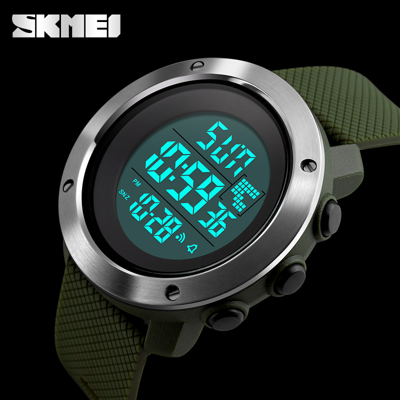 SKMEI New Fashion Sports Watches Stainless Steel Case Men Digital Clock Men Military Army Waterproof LED Electronic Wristwatches skmei men sports waterproof watch stainless steel fashion digital wristwatches