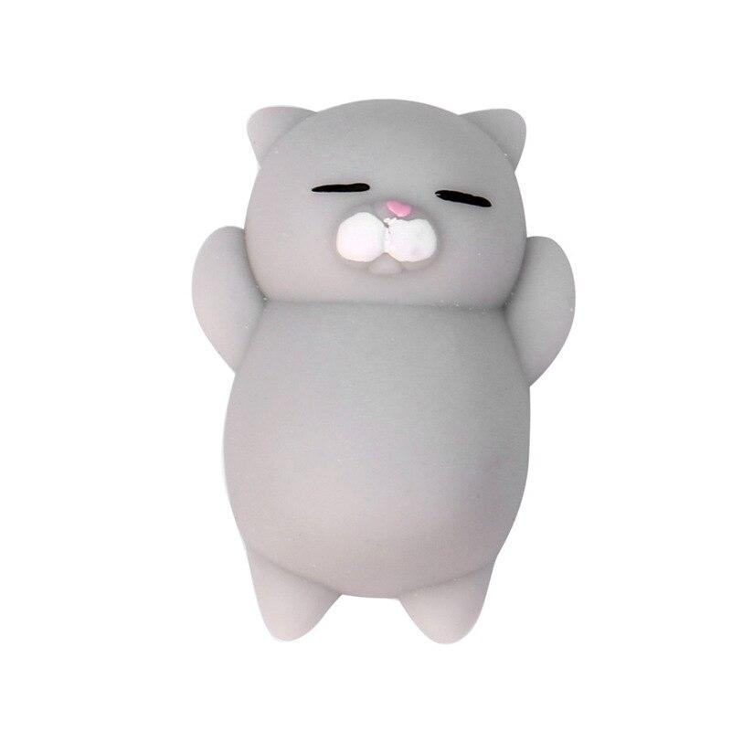 Cute Mochi Squishy Cat Squeeze Healing Fun Kids Kawaii Toy Stress Reliever Decor TPR animal Noverty Toys Anti Stress B0773