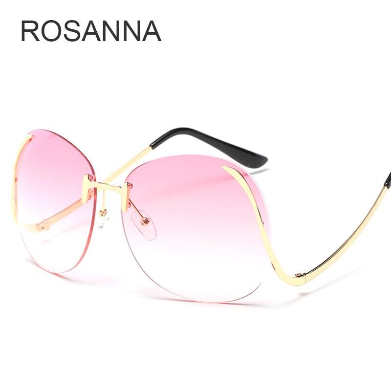 b2dbe0696 Cheap 2018 Rosa Gradiente Senza Montatura Diamante di Taglio Lente Occhiali  Da Sole Per Le Donne
