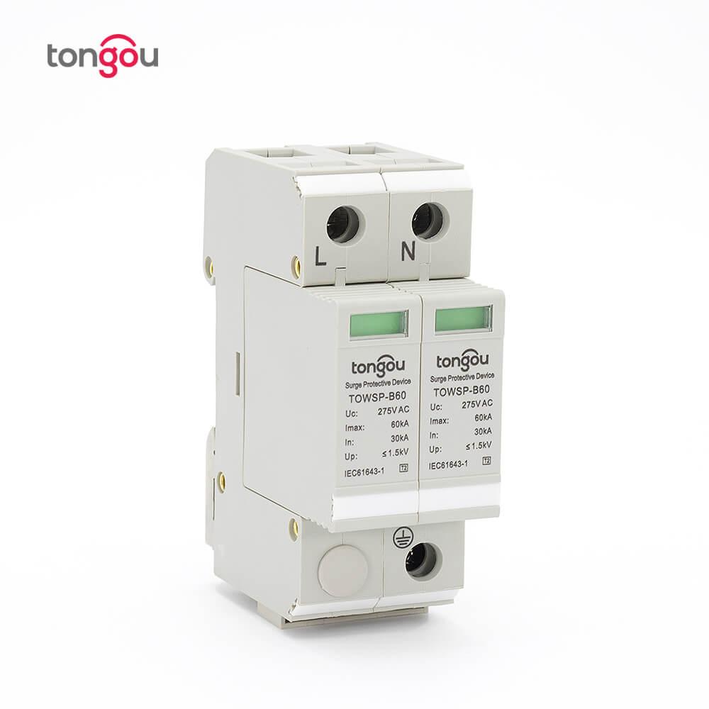 SPD 1P N 30KA~60KA B ~275VAC House Surge Protector Protection Protective Low voltage Arrester Device