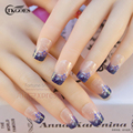 TKGOES New 24pcs/set Full Cover False Nail Tips Nep nagels Fake Nails for Nail Art Design Faux Ongles Free Glue JQ293