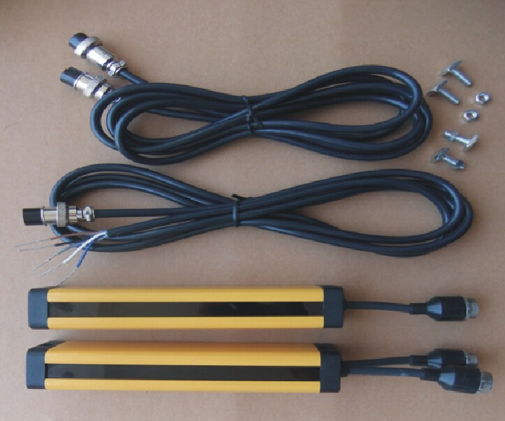 transistor PNP  normally closed 4 points 40MM   light curtain safety grating hydraulic protection punch sensor photoelectric 4 beams 40mm relay out put manufacturers safety light curtain safety grating optical protection punch sensor