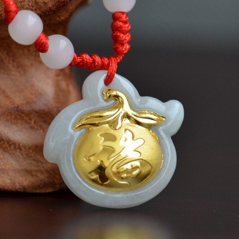 China White Jade Pendants For Child Fashion Good Quality Gift Pendant Necklace Unisex Luck Birthday