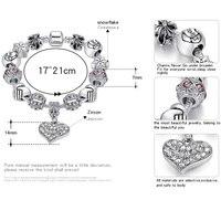 ELESHE Luxury Brand Women Bracelet 925 Unique Silver Crystal Charm Bracelet for Women DIY Beads Bracelets & Bangles Jewelry Gift 2