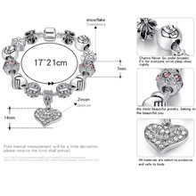 Sterling Silver Crystal DIY Bead Charm Bracelet