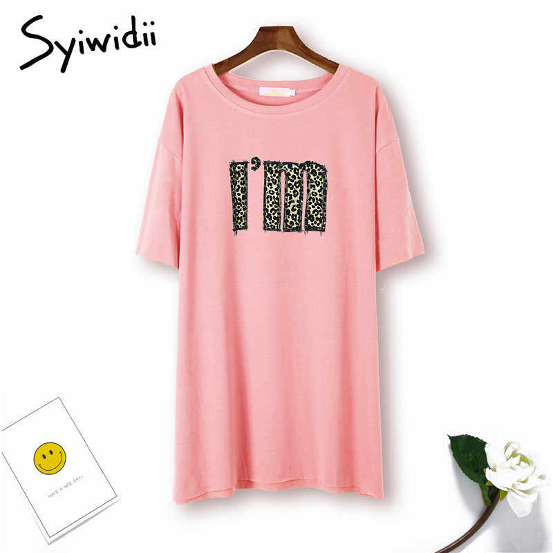 345fecfe44a141 ... Ulzzang T Shirt Women Short Sleeve Tops Cotton 5 Colors Casual Leopard  Print Letter White Top ...