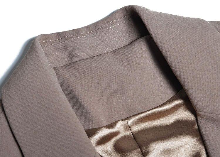 Et D'affaires Costumes Manches Moulante Bandage Deux Trouses Tops Complet Ensemble Costume Lady Longue Jambe Office Large K264 Élégant Pièces Coffee Jarretelles tEXwq77