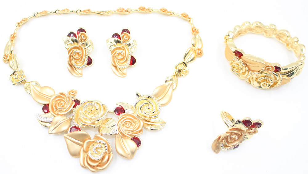 New Design Top Quality African Fashion Gold Plated Necklace ...