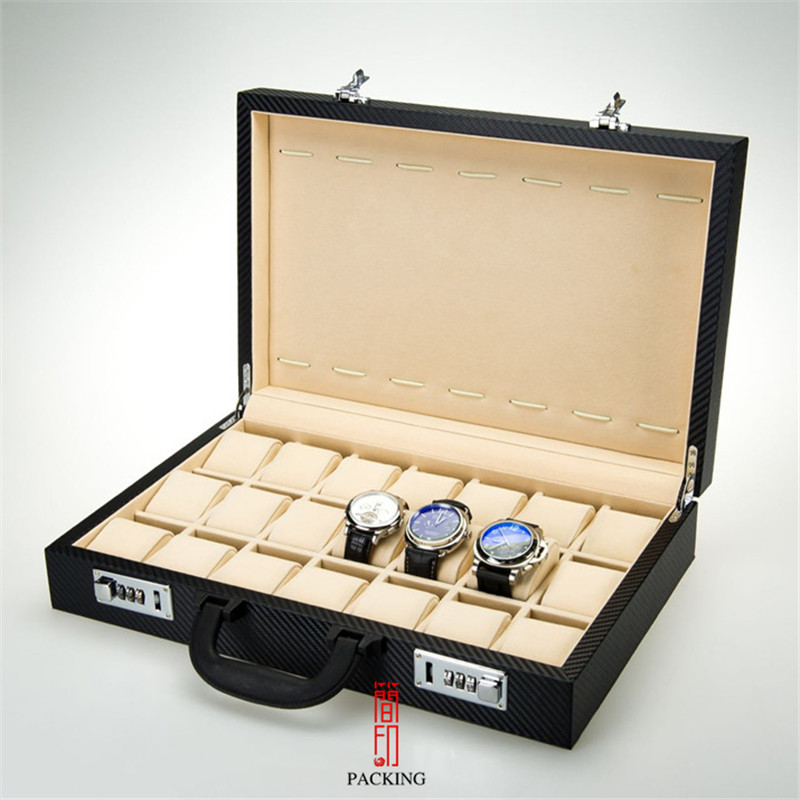 Portable multi-position watch box, portable storage lock box, watch display box, gift jewelry watch box display box
