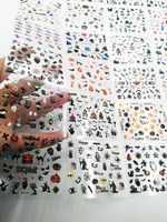 24 folhas em 1 dia das bruxas 3d etiqueta da arte do prego preto unhas arte adesivos adesivo crânio arte do prego adesivos de renda decalques transferências