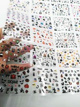 24Sheets in 1 Halloween 3D Nail Art Sticker Black Nail Art Nails Stickers Adhesive Skull Nail Art Lace Stickers Decals Transfers direct continental carved three dimensional nail stickers nail sticker nail art stickers 3d nail stickers xf713
