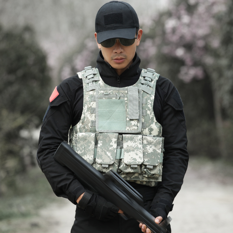 Männer Taktische Weste Jagd Military Airsoft Camouflage Military Uniform Kampf Weste Colete Tatico Armee Kleidung US Navy Seal - 2