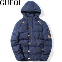 GUEQI Men Warm Hooded Parkas Plus Size M-3XL Washing Effects Man Casual Brand Outerwear Winter Jackets