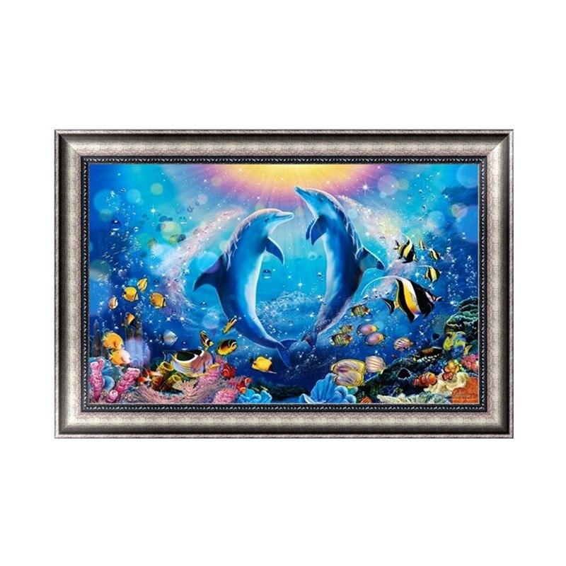DIY 5D Diamond Painting Ocean Diamond Embroidery Stitch Kit Kat Artesanato Hobby Decoracion Hogar Wall Sticker Home Decor