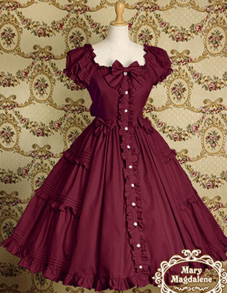 Ladies Victorian Lolita Gothic Palace Retro Chiffon Lace Princess Dress