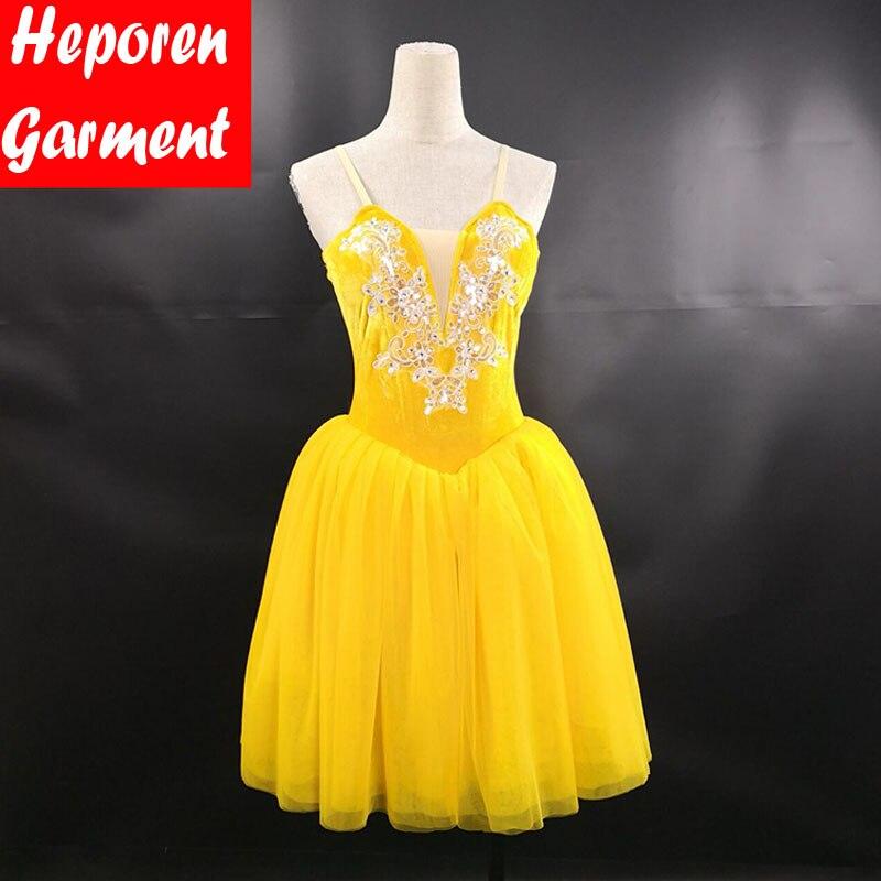 Jupe de ballerine de dessus de velours de robe de danse lyrique de Ballet faite sur commande, longue robe lyrique adulte pour la robe de ballerine de Costume de Ballet