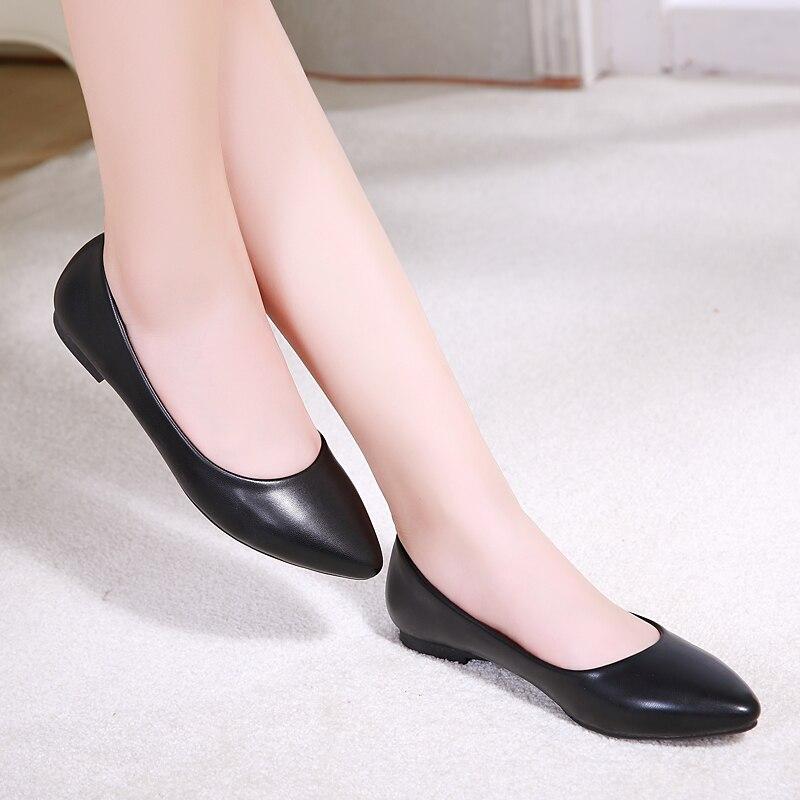 Mujeres planas de Los Zapatos Nuevos Zapatos de Tacón de Plataforma de Cuero Bla