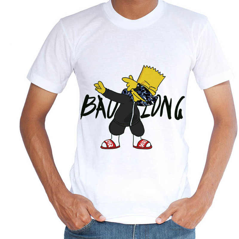 9ad0ed66ab5e Fashion man s T-shirt funny tops Cartoon pure white men t shirt harajuku  tees hip