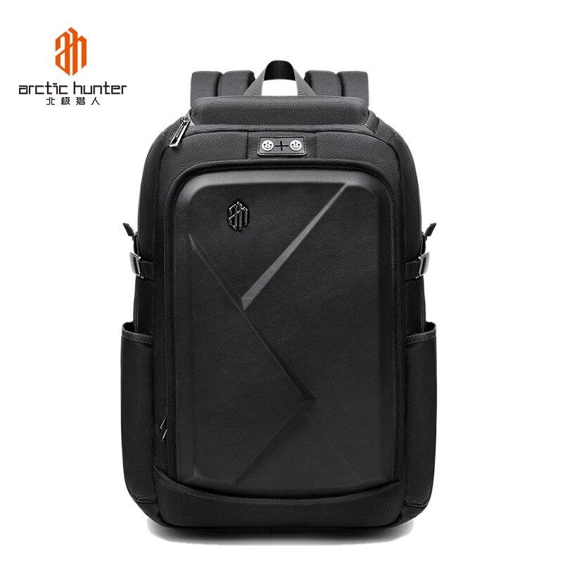 Mode hommes Schookproof 15.6 pouces ordinateur portable Bagbacks noir sacs de voyage mâle bagages sacs à dos ordinateur Mochilas cartable pour garçons-in Sacs à dos from Baggages et sacs    1
