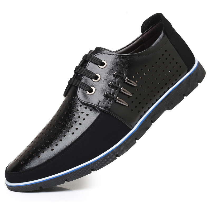 da alta in 44 Taglie marca nero Blue uomo Hollow casual di maschili 37 Hollow lusso Hollow morbidi Brown pelle cava Appartamenti Scarpe Sport qualità mocassini di di 2019 zqHX55