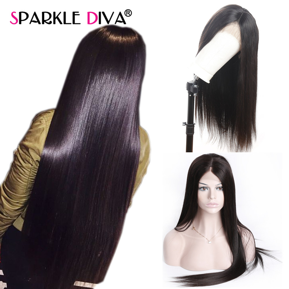 360 Lace Frontal Wig Peruvian Straight Human Hair Wigs 150 Remy Lace Front Human Hair Wigs