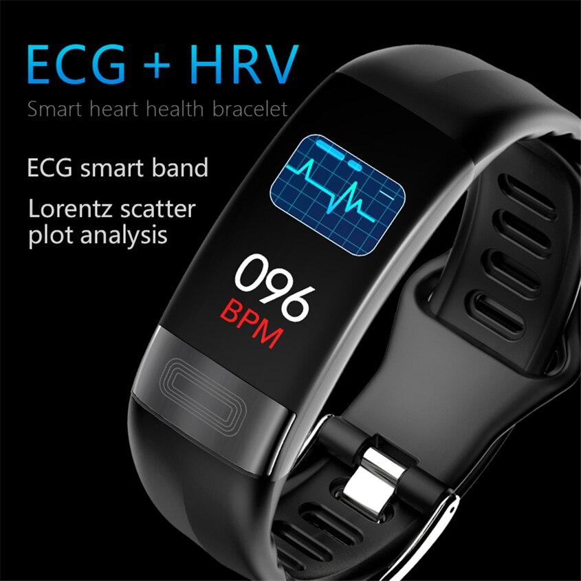 P11 Bracelet intelligent Sport montre intelligente hommes femmes Smartwatch ECG Bluetooth Bracelet moniteur de fréquence cardiaque appel Message rappel bande