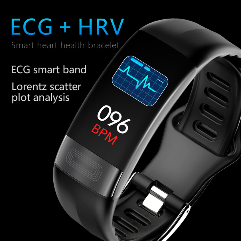 P11 Smart Bracelet Sport Smart Watch Men Women Smartwatch ECG Bluetooth Wristband Heart Rate Monitor Call Message Reminder Band|Smart Wristbands| |  - title=