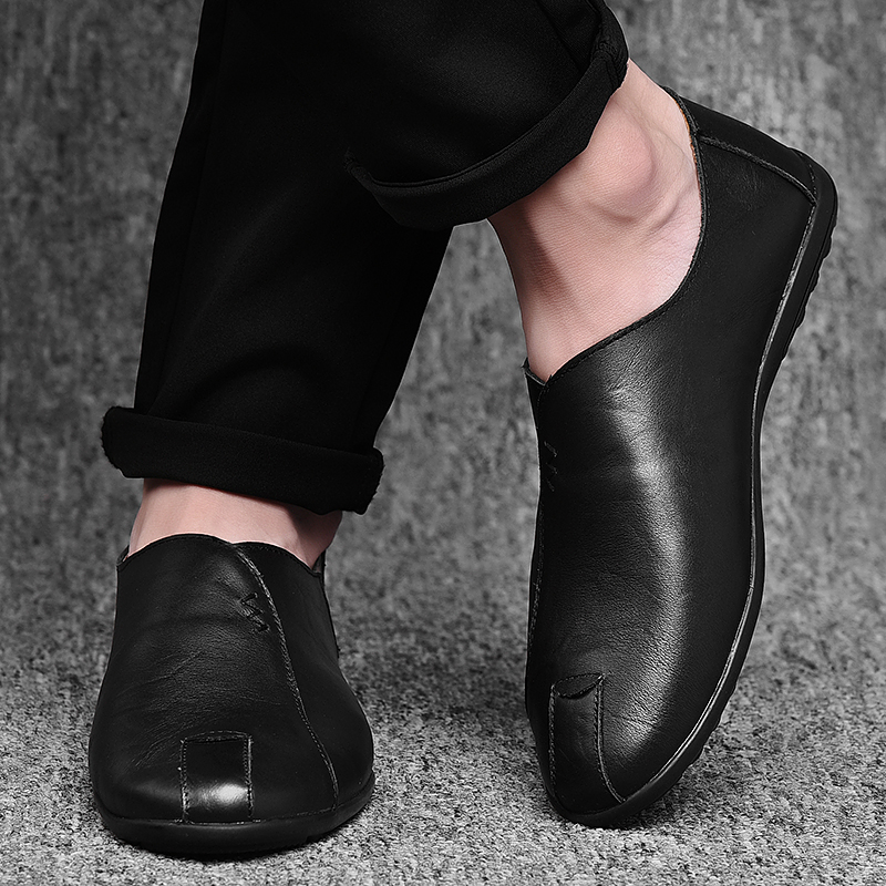 HTB1KWC2avjsK1Rjy1Xaq6zispXaX Leather Men Shoes Luxury Brand 2019 Italian Casual Mens Loafers Moccasins Breathable Slip on Black Driving Shoes Plus Size 38-47