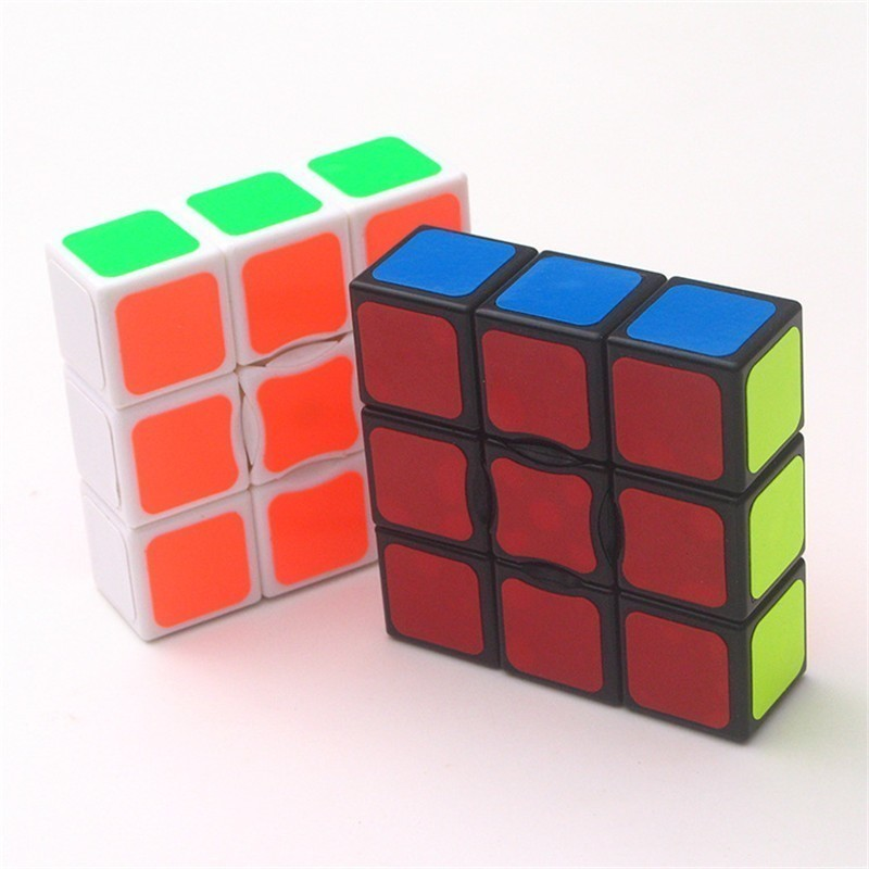 Magic Cube 1x3x3 Plastic Black White 18*56*56mm Speed Cube Colorful Learn Educational Puzzle Toy Children Gift