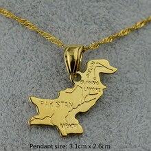 35599c858d23 Or Couleur Pakistan Carte Pendentif Colliers pour Femmes Filles Bijoux  Cadeaux   J0000