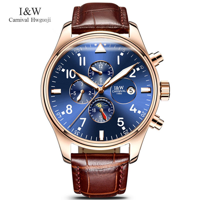 Carnival Mens Automatic Mechanical Watches Top Brand Luxury Watch Men Multifunction Military Waterproof Clock 2018 reloj hombre escam wnk803 720p cctv system 8ch hd wireless nvr kit outdoor ir night vision ip wifi camera security system surveillance