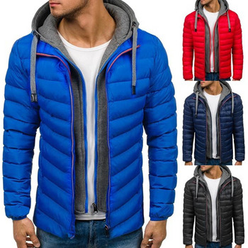 Men Winter Fashion Jacket Parka Men Thick Hooded Jackets and Coats Male Casual Streetwear Coat Men Clothes 2019 New 5