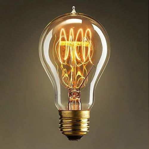 2PACK 40 watt A19 E27 Antique Style Edison Tube Incandescent Medium Base Light Bulbs 220V/110V
