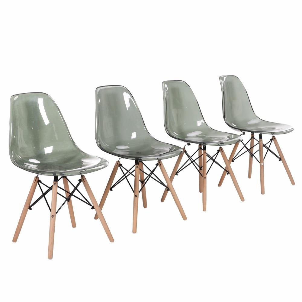 EGGREE-chaise d'accompagnement de salle de manger moderne, pour Restaurant, salle à manger et chambre à coucher, 4 pièces