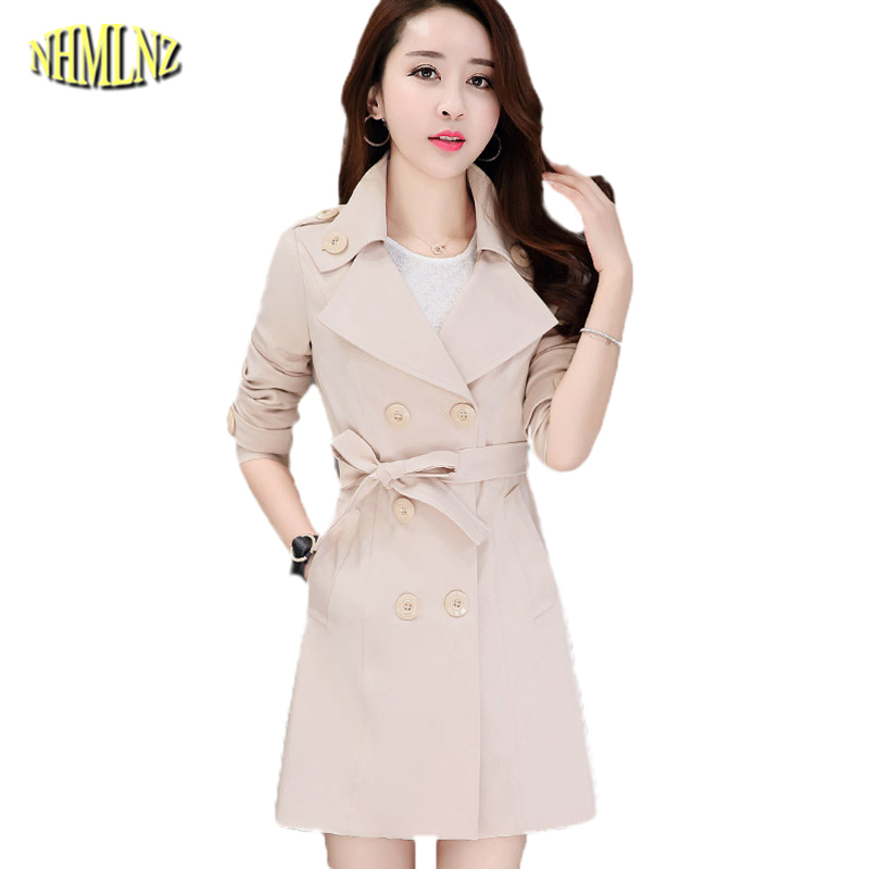 Large size New High quality Winter Fashion Casual Women Windbreaker Coat Warm Long section Slim Long sleeve Women jackets WK137